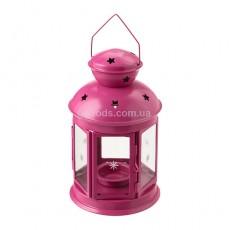 """Фонарь для свечи """"РОТЕРА"""" розовый"""