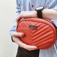 Женская сумка стеганая красная