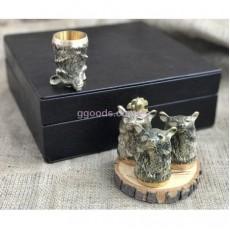Охотничьи рюмки Медведь