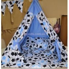 Детский шатер-вигвам Голубой Футбол
