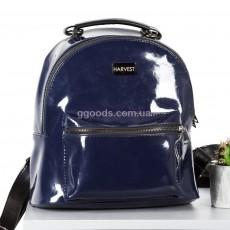 Женский рюкзак Mini синий лак