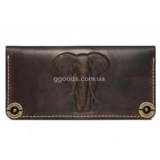 Кожаный кошелек Elephant