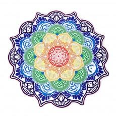 Пляжный коврик Мандала (фиолетовый)