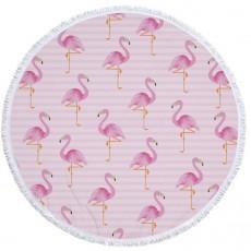 Пляжное одеяло Фламинго