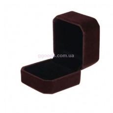 Бархатная коробка для кольца коричневая