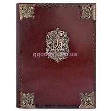 Папка Державная коричневая (кожзам)