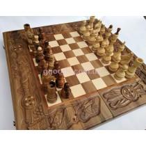 Шахматы ручной работы Рыцарский поединок
