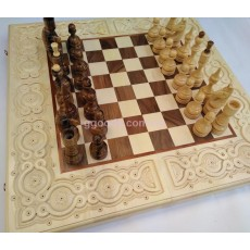 Шахматы нарды резные Айвори