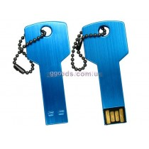 Флешка Ключ синий, серебристый, красный, черный