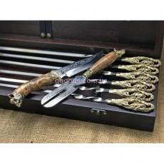 Шампура подарочные Кабан с вилкой и ножом