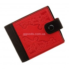 Оригинальный черно-красный кошелек