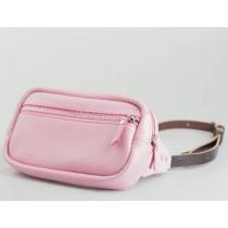 Женская сумка на пояс розовая