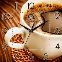 Настенные часы кофе американо