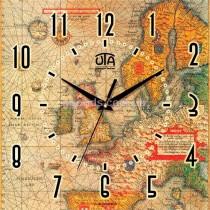 Настенные часы Карта