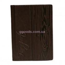 Обложка для паспорта кожаная Кольца