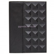 Кожаная обложка на паспорт Геометрия