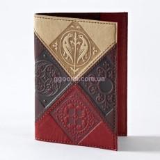 Кожаная обложка на паспорт Medieval