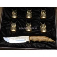 Набор рюмок с ножом Улов