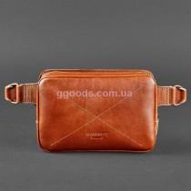 Кожаная сумка на пояс DropBag (Коньяк)
