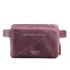 Кожаная поясная сумка Виноград