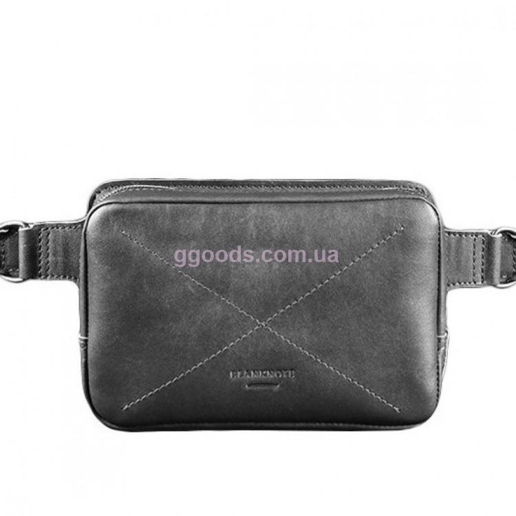 9729865b75b0 Кожаная поясная сумка Графит купить в Киеве | Good Goods