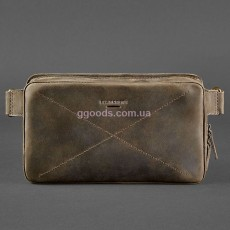 Сумка на пояс Dropbag maxi темно-коричневая