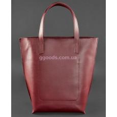 Кожаная сумка шоппер D.D. Виноград