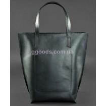 Кожаная сумка шоппер D.D. Графит