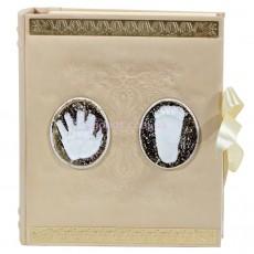 Кожаный детский альбом с магнитными листами