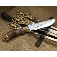 Шампура на подарок Лев в кожаном чехле