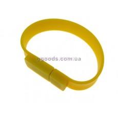 Флешка Браслет желтая прямоугольная