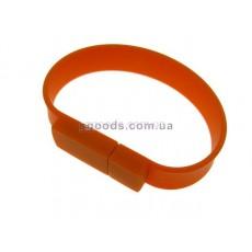 Флешка оранжевый браслет прямоугольник