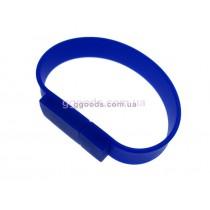 Флешка синий Браслет прямоугольный
