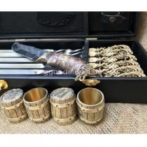 Набор шампуров Морской бриз с рюмками и ножом