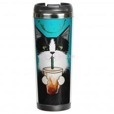Термокружка Кот со стаканом