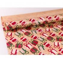 Упаковочная бумага Подарки крафт 10м