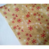 Упаковочная бумага для подарков новогодняя Снежинки 9,5м