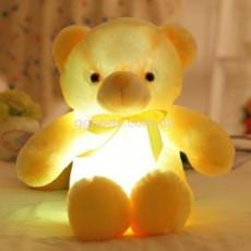 Плюшевый мишка светящийся желтый