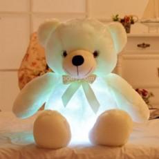 Светящийся плюшевый мишка белый