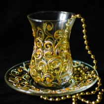 Армуды для чая Золотые узоры 2 шт