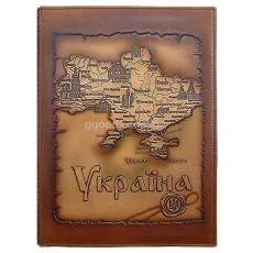 Папка адресная Украина, натуральная кожа