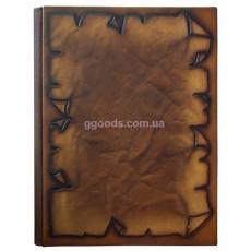 Папка кожаная на подпись Пергамент