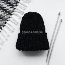 Вязаная шапка графит Basic mini
