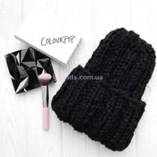 Вязаная шапка черная Basic mini