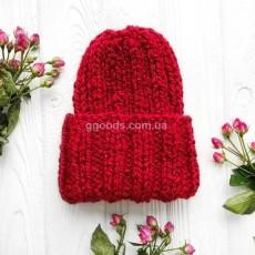 Женская шапка красная Basic mini