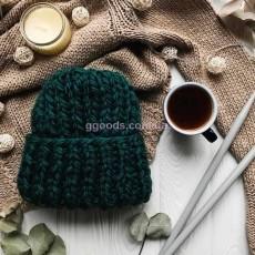 Зимняя вязаная шапка Морская волна Basic