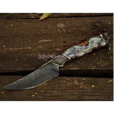 Нож из дамасской стали Черная жемчужина