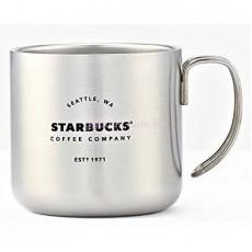 Металлическая кружка Starbucks Camp Silver 355 мл