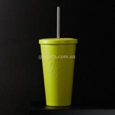 Стакан Starbucks Cold Cup Steel Yellow 473 мл