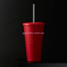 Стакан Starbucks Cold Cup Steel Red 473 мл